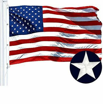 G128 American Flag 8x12 ft USA US Embroidered Stars Sewn Stripes Brass...