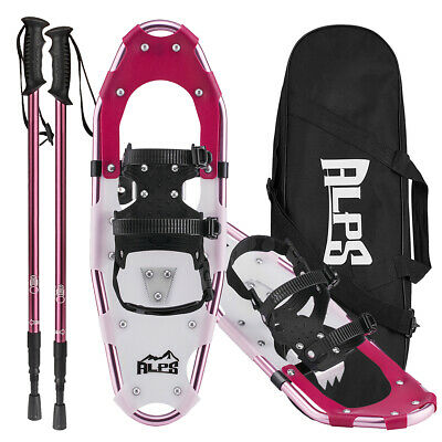 ALPS Hiking Snowshoes For Women Men Youth+Snowshoeing Pole+Free Bag 8''X 27''