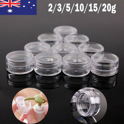 2/3/5/10/15/20g Sample Cosmetic Makeup Jars Pot Face Cream Lip Balm Container AU