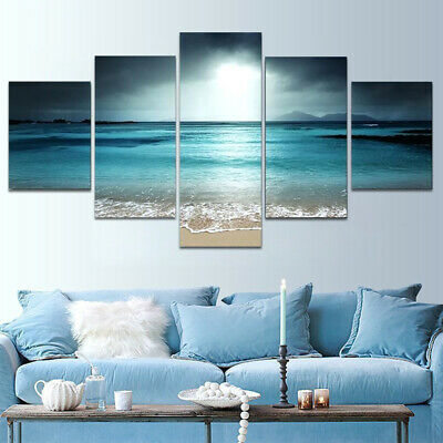 5Pcs Unframed Modern Art Oil Canvas Painting Picture Print Home Wall Decor NEW