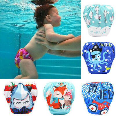 Toddler Baby Boy Swim Diapers Reuseable Adjustable Kids Swimming Lesson Trunk