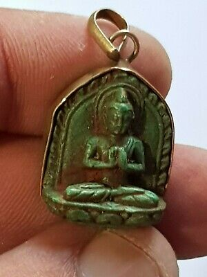 Exeptional Extremely Rare Ancient Silver Pendant Of Gandhara 5,2Gr 27Mm