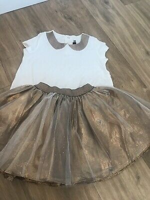 Catimini girls  Outift Age 4 Years Perfect For Parties And Christmas Time