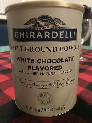 Ghirardelli Chocolate Sweet Ground White Chocolate Flavor Beverage Mix, 50 Ounce