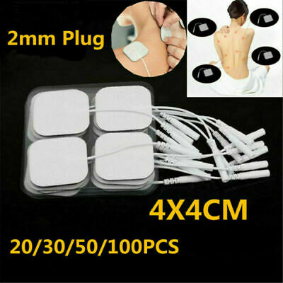 100Pcs TENS Machine Massagers Replacement Electrode Pads Self-Adhesive 4*4cm