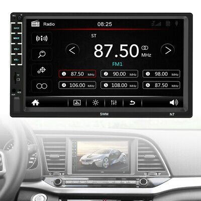 """7"""" inch Double 2 DIN Car MP5 Player Bluetooth Touch Screen Stereo Radio"""