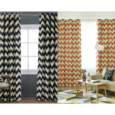 Wave Stripe Blackout Polyester Window Curtain Modern Living Room Bedroom Drapes