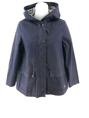 JACK WILLS Womens Jacket Coat 8 Purple Polyester & Cotton Hooded