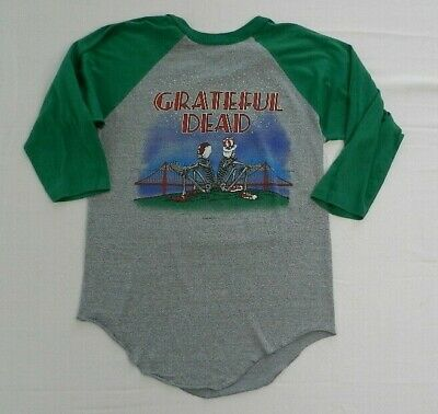 True Vintage GRATEFUL DEAD 1982 Tour Concert T-Shirt Christmas Baseball  Sz L