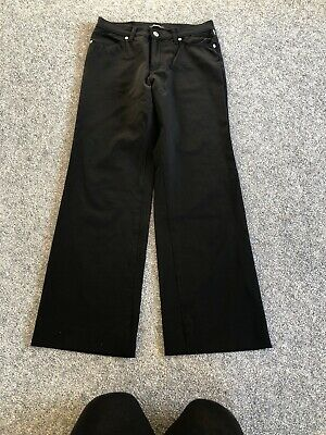 Versace classic trousers 10 size W27 41 Black Stretch Jeans Couture.