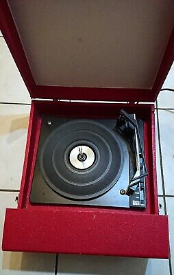Fidelity HF45 Red Record Player BSR Turntable Variable Speed Working