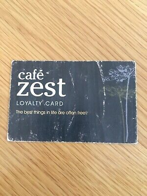 Cafe Zest Loyalty Card - Complementary Hot Drink