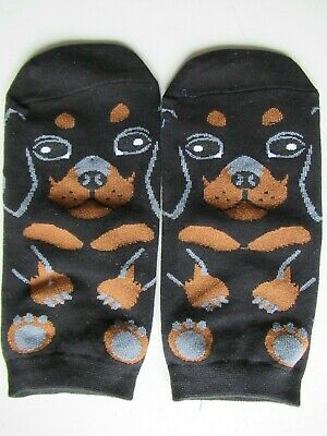 NEW Ladies Girls (1 Pair) Dachshund Puppy Sausage Dog Ankle / Trainer Socks