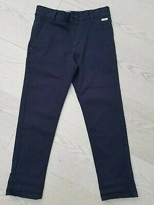 Ted Baker boys navy blue trousers size 6 years old 98% cotton