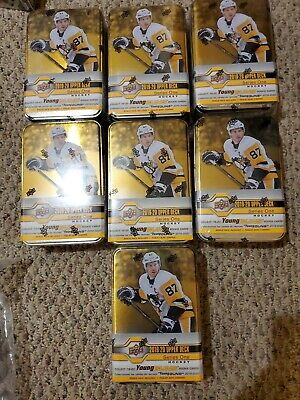 2019-2020 Upper Deck Hockey Series1 Tins. 7 Count Lot With Sp O-pee-chee Pack...