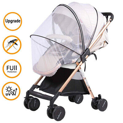 Baby Buggy Pram Mosquito Cover Net Pushchair Stroller Fly Insect Mesh Protector