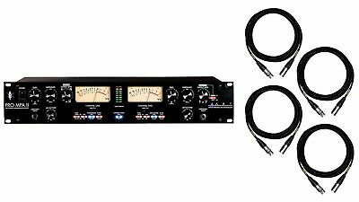 ART Pro MPA II Channel Strip w/ 4 Premium 15-foot XLR Mogami Cables Bundle