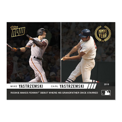 2019 Topps NOW MOY13 Mike Yastrzemski RC San Francisco Carl Moment of the Year