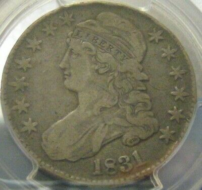 1831 Capped Bust Half Dollar PCGS O-104 VF Details Rim Bumps
