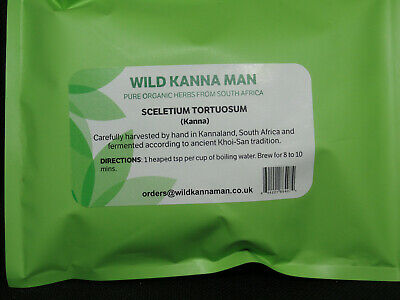 Sceletium Tortuosum 100% pure (Kanna)  50g organically grown Tea Cut