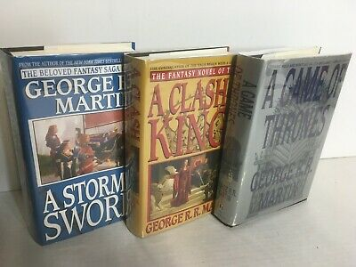 Game of Thrones, Clash of Kings, Storm of Swords George RR Martin 3 Vol HB Set