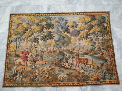 6288 - Old French / Belgium Tapestry Wall Hanging - 155 x 110 cm