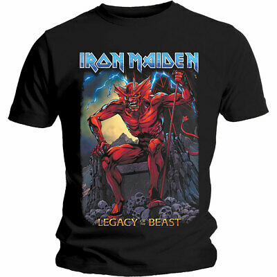 IRON MAIDEN Devil T-SHIRT (All Sizes) NEW OFFICIAL Eddie Legacy Of The Beast