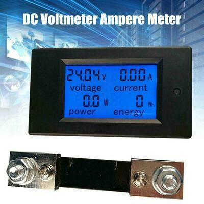 LCD Display DC Battery Monitor Meter 6.5-100V Volt Amp For Cars System Sola E7M8