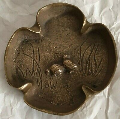 Vintage Bronze Dish (Ashtray?) With Figures In  Relief