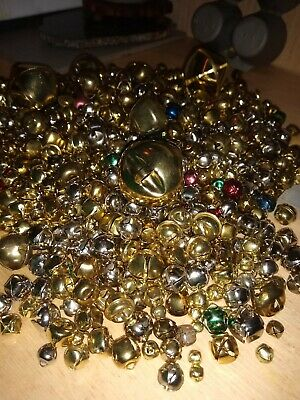 Lot 750+ Metal JINGLE BELLS - ASSORTED SIZES/Colors 4+lbs! Christmas Crafts