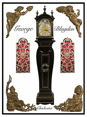 Blagden Chichester 18thc  Longcase in The Form of a Bracket Clock on Pedestal