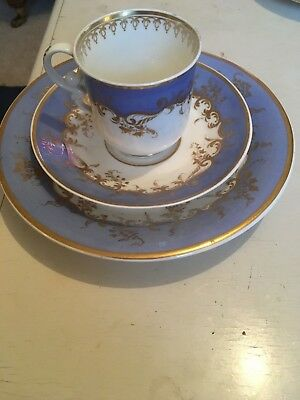 REDUCED Antique Spode China cup saucer plate trio set stamped 4271