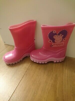 Peppa Pig Girls Pink Size 5 Wellies Boots