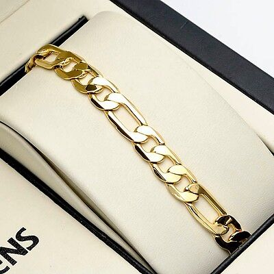 """Amazing Charms Bracelet 18K Yellow Gold Filled 8"""" Link 6mm Fashion Jewelry"""