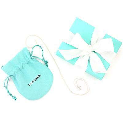 """Tiffany & Co Sterling Silver Chain Necklace, 18"""" (NEW w/ Box, Pouch, Ribbon)"""