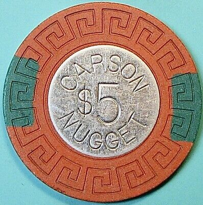 $5 Casino Chip. Nugget, Carson City, NV. O49.