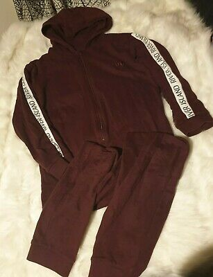 Girls 9-10 years River Island hooded Jumpsuit playsuit pyjama clothes next day