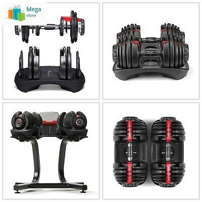 Bowflex Strength Adjustable Dumbbells Syncs Free SelectTech App Workout *NEW*
