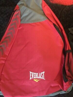 Bnwt Boys/Girls Everlast Sling Back Pack Red/Grey