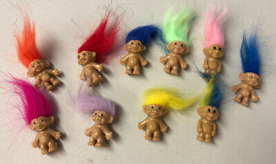 Lot Of 10 Lucky Troll Doll Mini Figures & Party Favors NEW!!