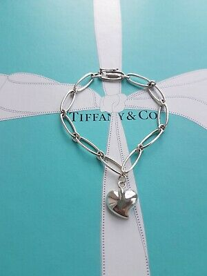 Authentic Rare Tiffany & Co Elsa Peretti Full Heart Oval Link Bracelet,