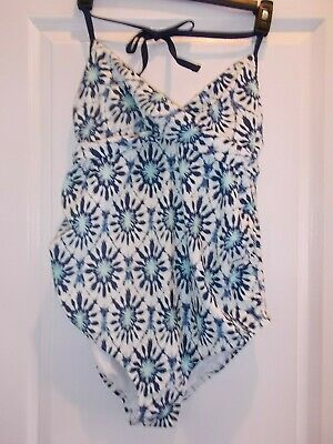 Liz Lange Maternity Women's Size Large One-Piece Swimsuit With Built In Bra
