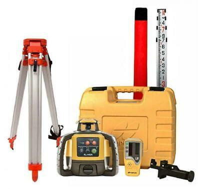 Topcon RL-H5A Construction Rotary Laser Level W/ Grade Rod Inch/10th and Tripod