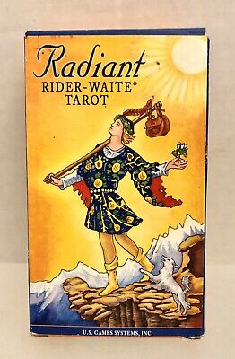 2003 Radiant Rider-Waite Tarot Deck - Drawings by Pamela Colman Smith - New