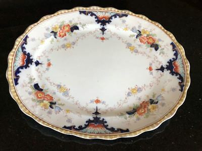 Antique Coronet Opaque China Meat Plate by S H & Sons