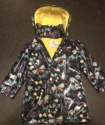 Girls Marks & Spencer Butterfly Padded Hooded Raincoat Age 2-3 Years Big Sizing