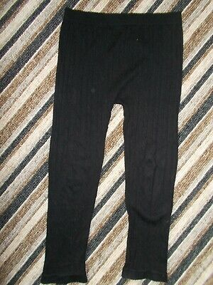 Girls Black Stretch Cable Knit Leggings Age 6/7 Years