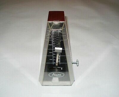 Vintage Franz Working Key-Wound Musical Instrument Floating Mechanism Metronome