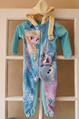 GIRLS DISNEY FROZEN ONE PIECE AGE 3-4yrs BY GEORGE - IN V GOOD CONDITION