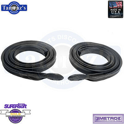 1971-73 GM B Body Roofrail Weatherstrip Seal Pair RR5007A